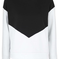 PETITE Colour Block Sweatshirt - Clothing