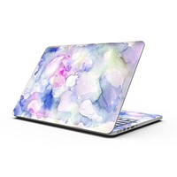 Light Blue 3123 Absorbed Watercolor Texture - MacBook Pro with Retina Display Full-Coverage Skin Kit