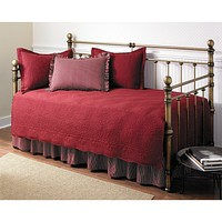 5-Piece Daybed Comforter and Bedding Set in Scarlet Red