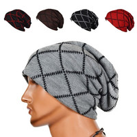Cool Men Women Warm Winter Knit Ski Beanie Cap Skull Slouchy Baggy Unisex Hat = 1957997252