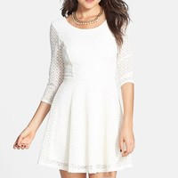 Lush Lace Skater Dress (Juniors)