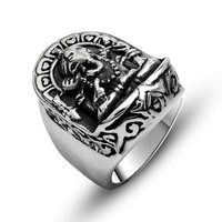 Jewelry Stylish Shiny New Arrival Gift Vintage Titanium Accessory Men A4 Size Ring [6526793475]