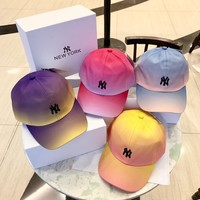 """New York"" Unisex Fashion Gradient Color Letter Embroidery Baseball Cap Couple Peaked Cap Sun Hat"