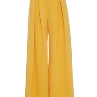 Front-Pleated Wide Leg Trouser | Moda Operandi