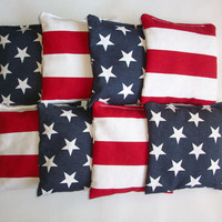 USA Cornhole bags - set of 8 - choose your own color combo - ACA regulation - corn hole - stars stripes
