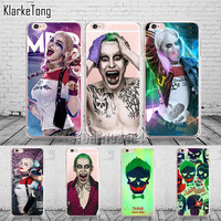 Tumblr Suicide Squad Joker Harley Quinn Case For iphone 6 6s 5 5s se 7/7plus Transparent Silicone Protective Phone Capa Capinha
