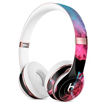 Vivid Pink and Teal liquid Cloud Full-Body Skin Kit for the Beats by Dre Solo 3 Wireless Headphones