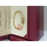 Cartier Diamond Nail , Juste UN Clou Bangle , 18K yellow Gold Bracelet size 19