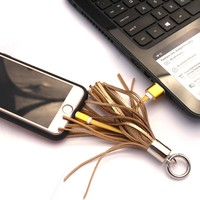 Fringe Charger for iPhone and Android | Keychain Phone Charger