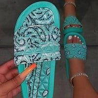 Women's Shoes Flat Slippers Outdoor Beach Sandals Open Toe Fashion Casual