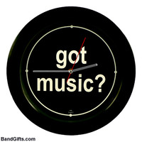 MUSIC GIFTS: MISC: Got Music? Wall Clock, Music Gifts for Musicians, Music Clocks