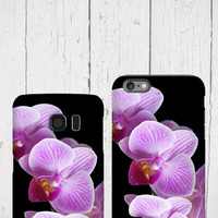 Orchid iphone 6 case, Purple orchids, Floral Samsung Galaxy tough case, Flower iPhone 6 plus, iPhone 5 cover, Samsung Galaxy S6 Edge