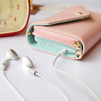 ETO Multi-use Wallet Case coin Purse wrist bag for iPhone 4 4S 5 5G Galaxy PK