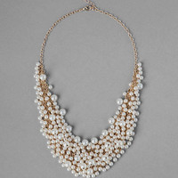 Beverly Pearl Cluster Necklace