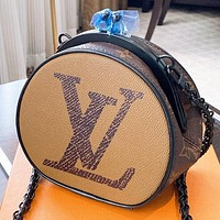 LV Fashion New Monogram Print Leather Shoulder Bag Crossbody Bag
