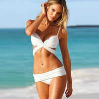 Victoria's Secret Like Floral Printed White Women Triangle Steel Pallets Underwire Solid Sexy Erotic  Sexy Bikini Swim Suit Beach Bathing Suits Sexy Swim Suit Beach Bathing Suits