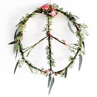 FLORAL PEACE WREATH