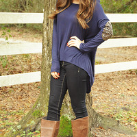 Hidden Treasure Sweater: Navy