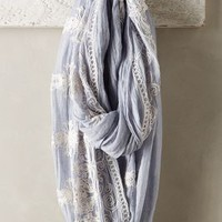 Embroidered Sky Infinity Scarf by Anthropologie Sky One Size Scarves