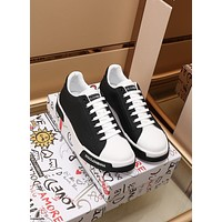 D&G  Men Fashion Boots fashionable Casual leather Breathable Sneakers Running Shoes0414om