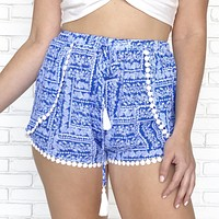 Blue Moon Tassel Shorts