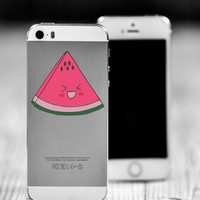 """Watermelon Kawaii Die Cut Sticker // Cute Japanese Decal // Cell Phone & Tablet Small Size // 2"""" // Perfect For Indoor, Outdoor, Laptop, Car"""