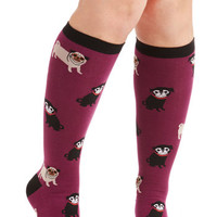 ModCloth Darling Pug It Out Socks in Wide