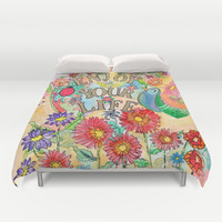 Enjoy your life Duvet Cover by Heaven7