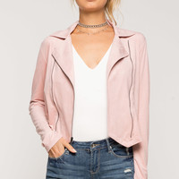 Connie Suede Moto Jacket