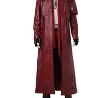 Star-Lord Peter Jason Quill Cosplay Costume Guardians of The Galaxy 2 Long Coat