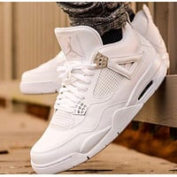 Nike Air Jordan 4 Retro Pure Money Men's and Women's Sneakers Shoes