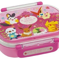 Japanese Licensed Pokemon Microwavable Bento Lunch Box Pink (With License, Divider Inside) by Skater