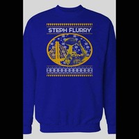 """WARRIOR'S STEPH CURRY """"STEPH FLURRY"""" CHRISTMAS HOLIDAY SWEATER"""