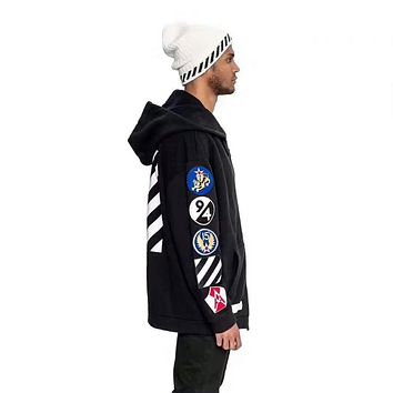 OFF - WHITE 16FW autumn and winter new badge hoodie