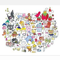 Hello Kitty Art Print by Kenton Parker: Untitled