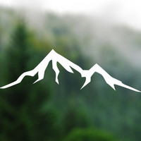 DECAL [Mountain] Vinyl Decal, Car Window Decal, Laptop Decal, Laptop Sticker, Water Bottle Decal, Phone Decal, Bumper Sticker, Car Decal