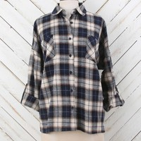 Altar'd State Hot Chocolate Plaid Top | Altar'd State
