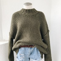 COMFORT ZONE SWEATER- OLIVE