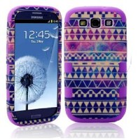 DandyCase 2in1 Hybrid High Impact Hard Aztec Tribal Pattern + Orange Silicone Case Case Cover For Samsung Galaxy S3 i9300 + DandyCase Screen Cleaner