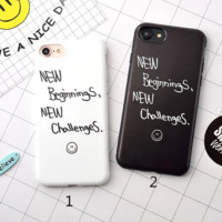 Fashion Inspirational words Phone Case Cover for Apple iPhone 7 7 Plus 5S 5 SE 6 6S 6 Plus 6S Plus + Nice gift box! LJ161007-006