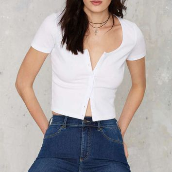 Glamorous One Stop Crop Top - White