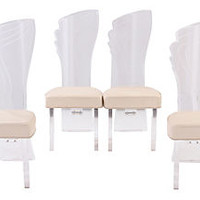 Lucite Dining Chairs, S/4