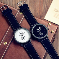Awesome Trendy New Arrival Great Deal Designer's Good Price Gift Korean Simple Design Fashion Stylish Vintage Couple Watch [11668137423]
