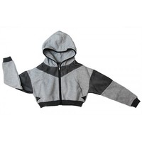 Game On Sporty Crop Hoodie Jacket - #Sporty