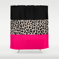 Leopard National Flag IV Shower Curtain by M Studio