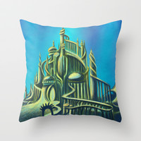 The Mysterious Fathoms Below Throw Pillow by Kimberly Castello