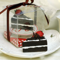 Cute Handmade Chocolate Sliced Cake Candle