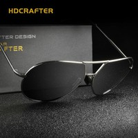 HDCRAFTER NEW Arrival Brand Designer Cool  Oculos Polarized  Oval Sunglasses for Men Outdoor Eyewear Accessories