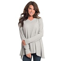 Waffle Knit V-Neck in High Rise by The Southern Shirt Co.