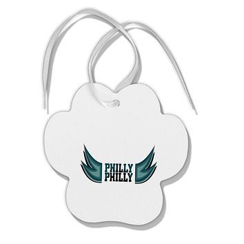 Philly Philly Funny Beer Drinking Paw Print Shaped Ornament by TooLoud